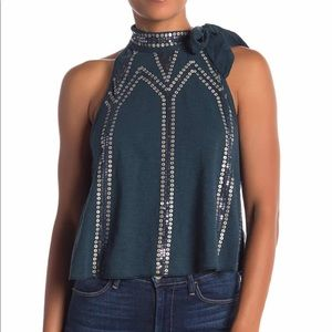Free People Sequin Tank Top Size M Glitter City